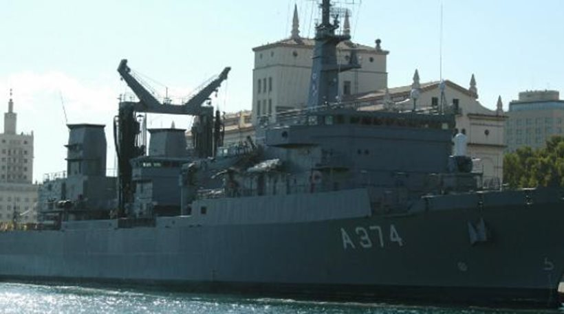 Πλώρη για Αλεξάνδρεια βάζει το πολεμικό πλοίο γενικής υποστήριξης «Προμηθεύς»