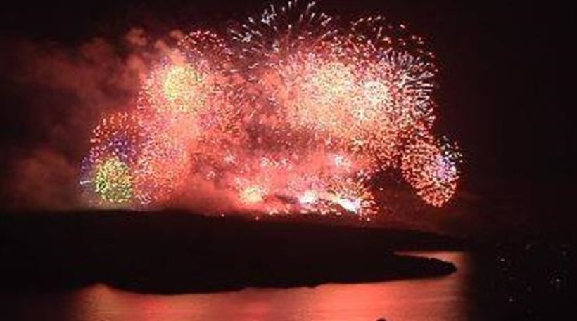 Σαντορίνη: Εντυπωσίασε η αναπαράσταση της έκρηξης του ηφαιστείου