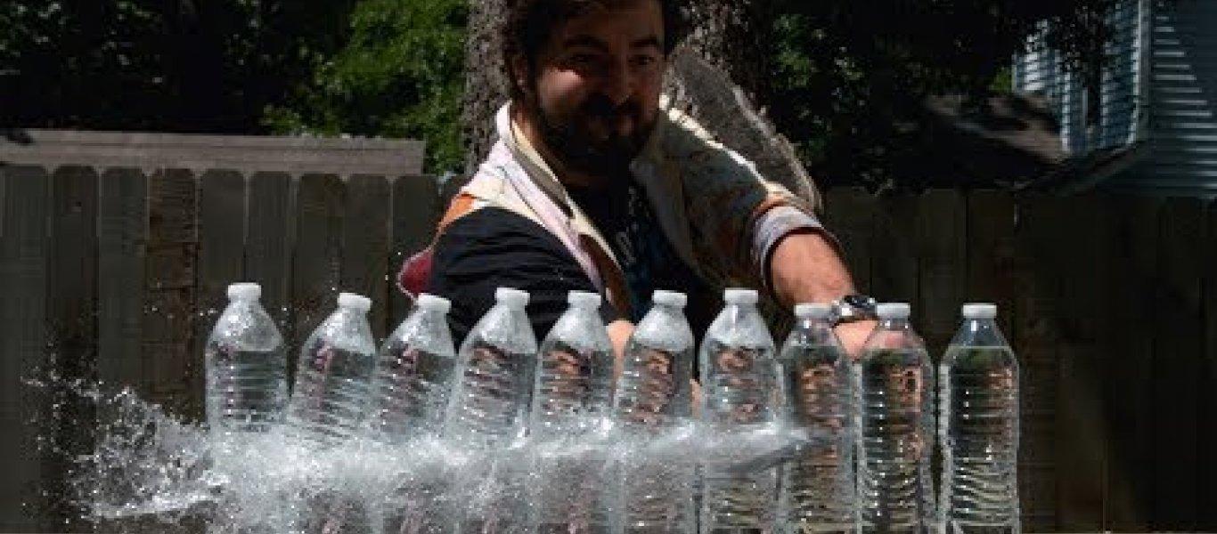Βίντεο: Όταν ένα σπαθί κατάνα κόβει μπουκάλια σε … σούπερ αργή ταχύτητα!