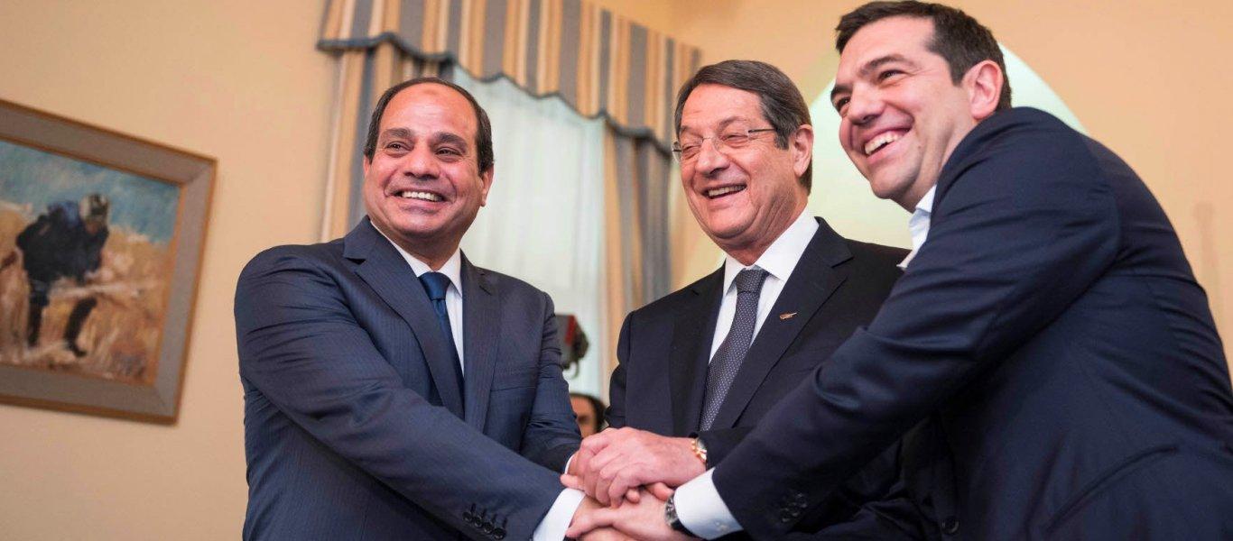 Έκτακτη συνάντηση Α.Τσίπρα με τον πρόεδρο της Αιγύπτου αλ Σίσι και τον Ν.Αναστασιάδη – Οριοθετείται η ελληνική ΑΟΖ;