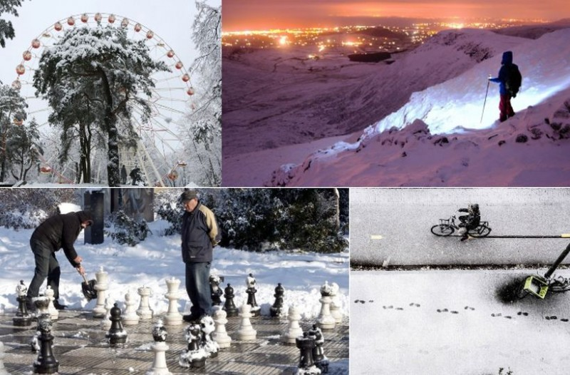 """Πανέμορφες φωτογραφίες από την χιονισμένη Ευρώπη! Όλα στα """"λευκά"""""""