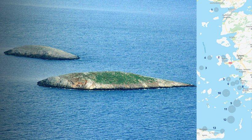 Ποια είναι τα νησιά που θέλουν να «γκριζάρουν» οι Τούρκοι