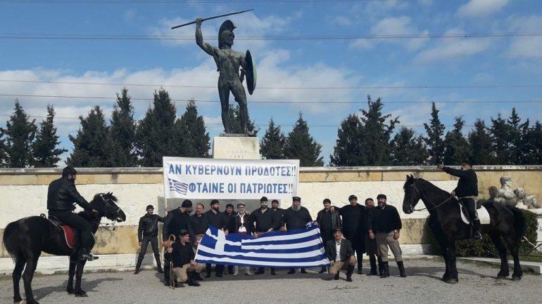 Με άλογα στο συλλαλητήριο για το Σκοπιανό οι Κρητικοί