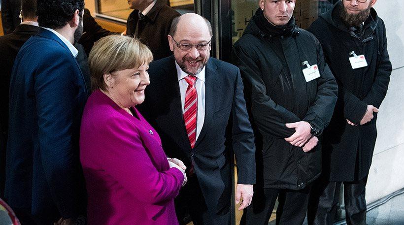Τα βρήκαν στη Γερμανία: Ετοιμοι για κυβέρνηση Μεγάλου Συνασπισμού