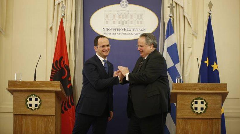 Ο Αλβανός ΥΠΕΞ προκαλεί Κοτζιά: Θα μιλήσουμε και για «Τσαμουριά»