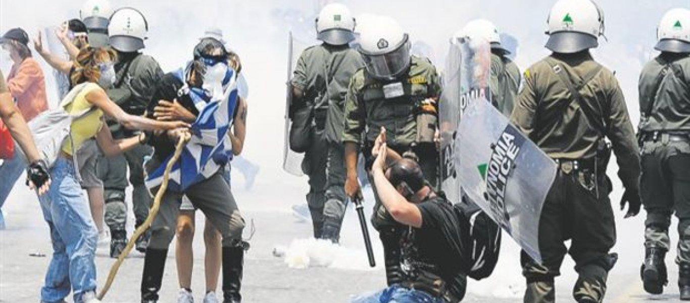 """«Σκουπίδι» με κουκούλα τρώει «το ξύλο της χρονιάς του» στο Ωραιόκαστρο μόλις φωνάζει """"Γα…ώ την Ελλάδα σας»"""