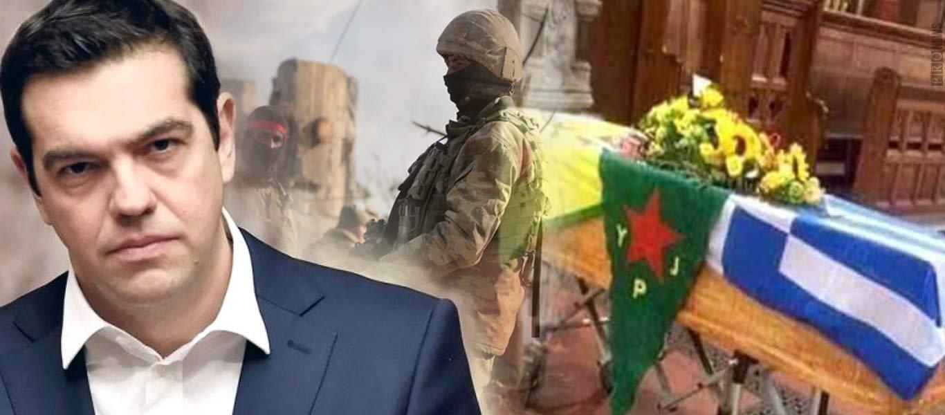 Βρέθηκε ελληνική σημαία σε φέρετρο Κούρδου στην Αφρίν – Αγκυρα: «Συμμαχία Ελλάδας-YPG αλλά τους θάψαμε μαζί»