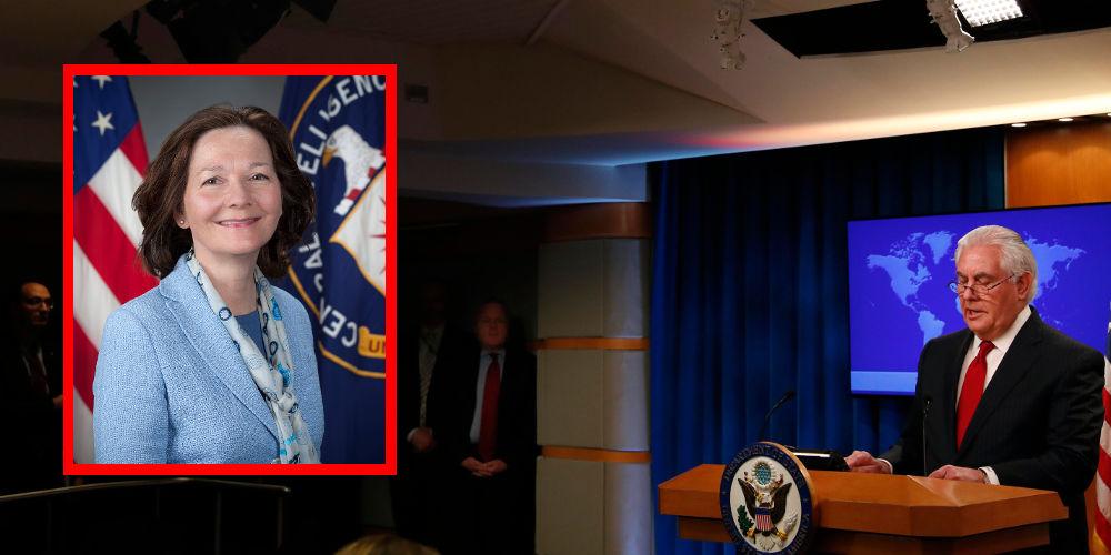 Η Τζίνα Χάσπελ, πρώτη γυναίκα επικεφαλής της CIA και ο έκπληκτος Τίλερσον