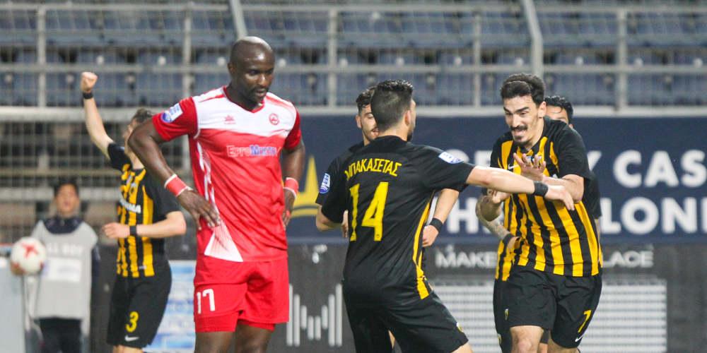 Η ΑΕΚ νίκησε 1-0 τον Πλατανιά και ετοιμάζεται για την στέψη της πρωταθλήτριας