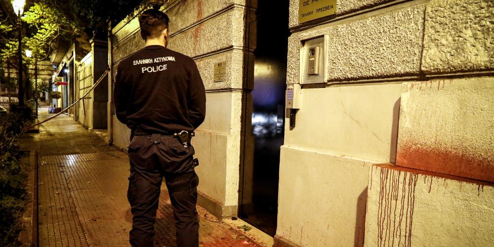 Σύλληψη για την επίθεση του Ρουβίκωνα στη γαλλική πρεσβεία