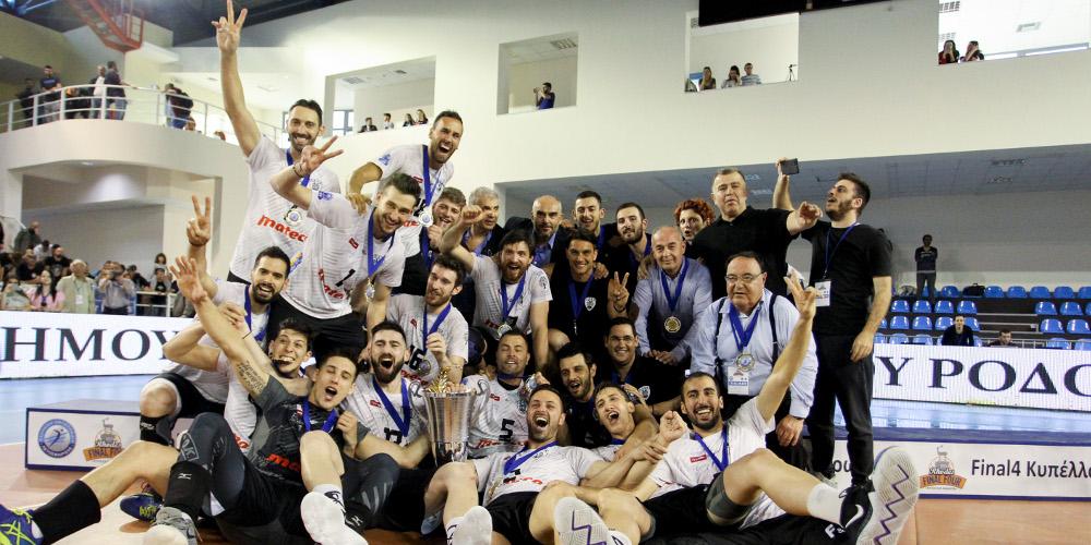 Βόλεϊ ανδρών: Αξιος Κυπελλούχος ο ΠΑΟΚ για δεύτερη φορά στην ιστορία του
