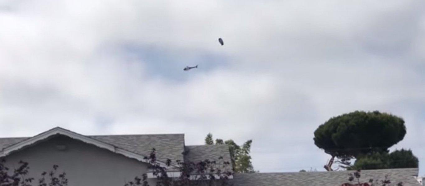 Καλιφόρνια: Ελικόπτερο της Αστυνομίας πετά γύρω από ένα… ΑΤΙΑ (βίντεο)
