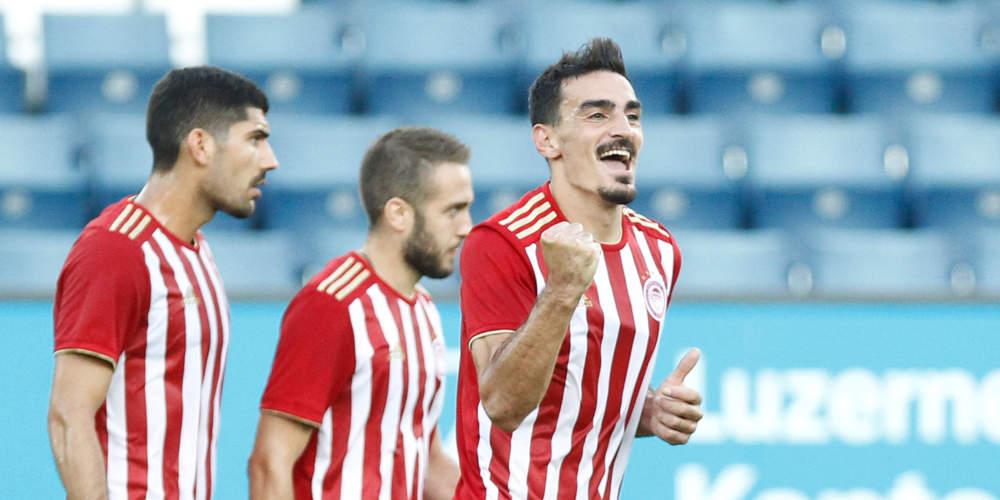 Europa League: Σαν σε προπόνηση ο Ολυμπιακός προκρίθηκε στα πλέι οφ – 3-1 την Λουκέρνη