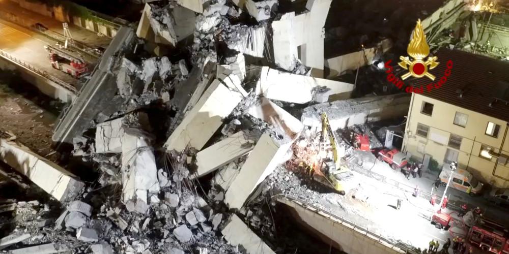 Στους 41 οι νεκροί από την κατάρρευση της γέφυρας στην Γένοβα