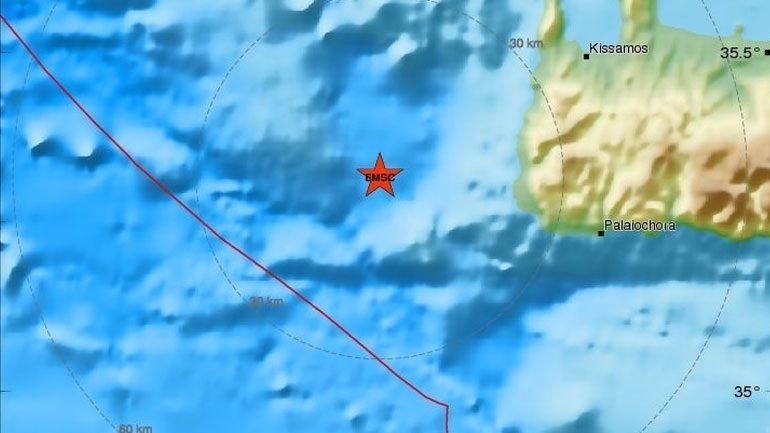 Νέα σεισμική δόνηση στη θάλασσα της Κρήτης