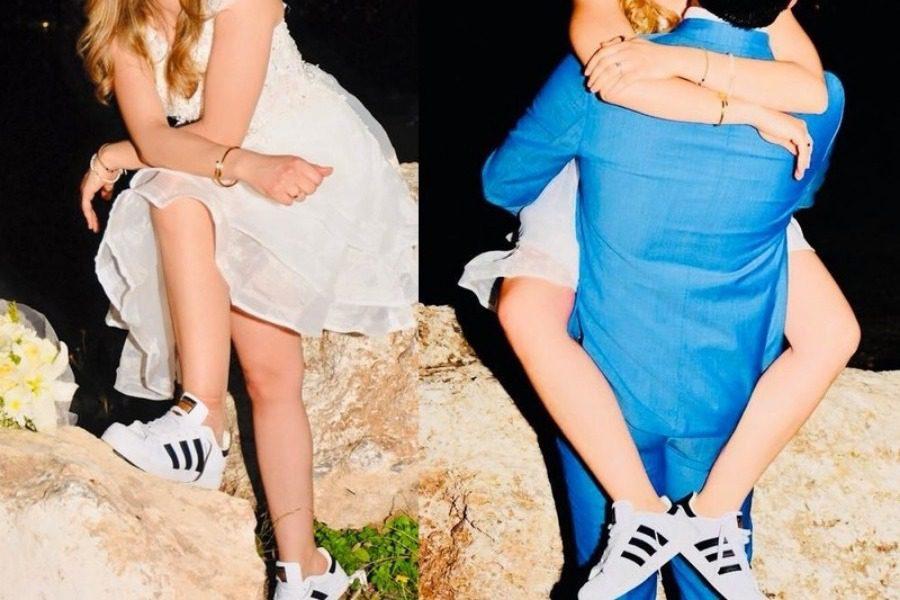 Παντρεύτηκε κρυφά παρουσιάστρια του ΣΚΑΙ φορώντας αθλητικά παπούτσια
