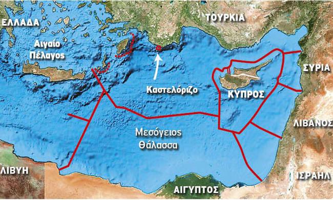 Οι Τούρκοι «διαγράφουν» το Καστελλόριζο: Φρεγάτες και Barbaros στην ελληνική υφαλοκρηπίδα