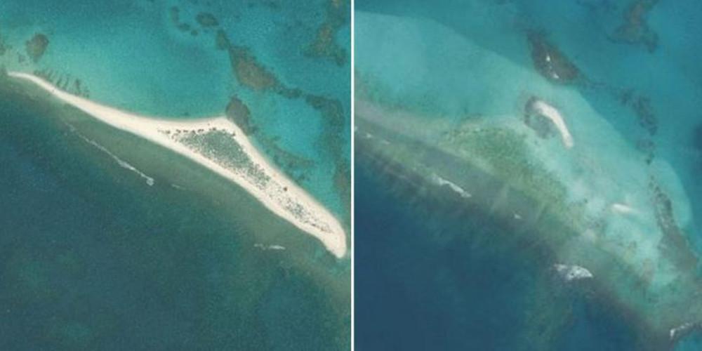 Απίστευτο: Νησί… εξαφανίστηκε κάτω από τα κύματα [βίντεο]