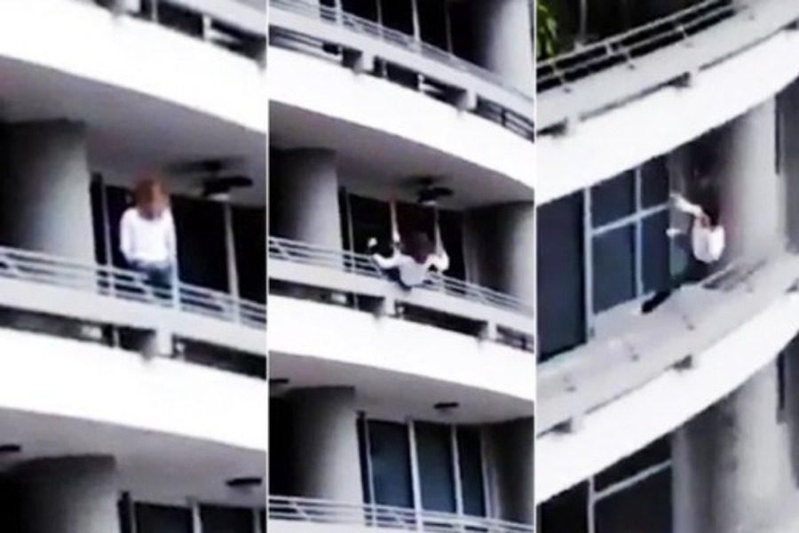 Η σοκαριστική στιγμή που γυναίκα πέφτει από τον 27ο όροφο προσπαθώντας να βγάλει selfie