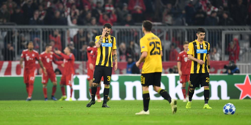 Δεν τα κατάφερε η ΑΕΚ που έχασε με 2-0 από την Μπάγερν για το Champions League