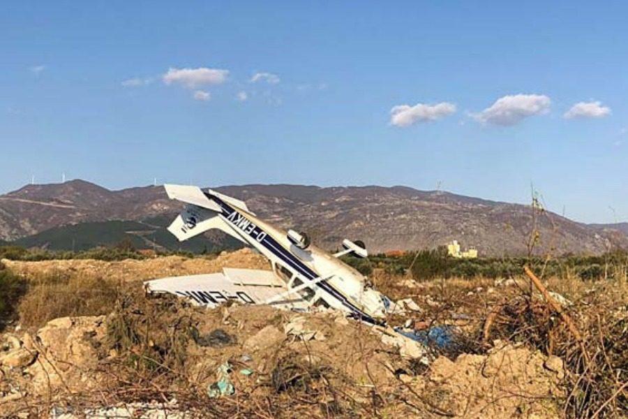 Ξάνθη: Εικόνες σοκ από την πτώση μονοκινητήριου αεροσκάφους