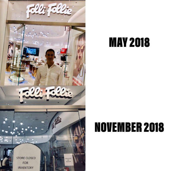 Folli Follie: Έκλεισε το κατάστημα στη Νέα Υόρκη