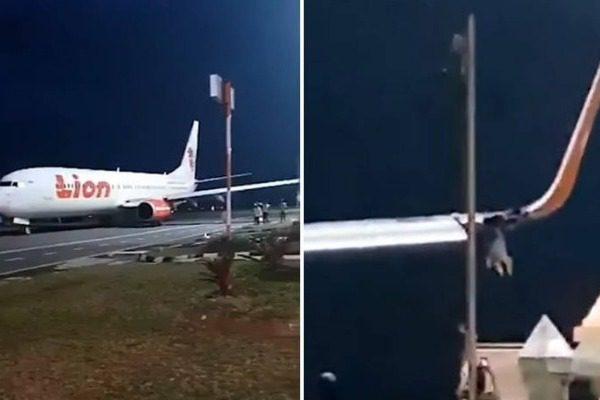 Αεροπλάνο έπεσε με το φτερό σε κολώνα λίγο πριν την απογείωση