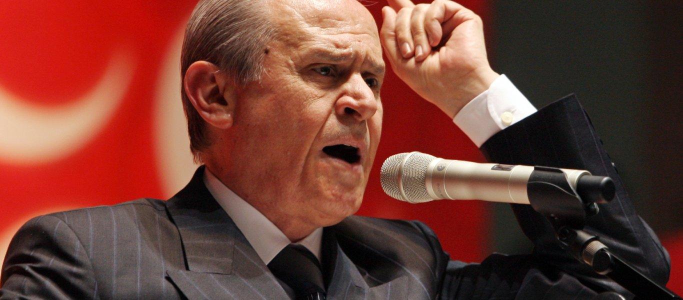 Μετά τον Ερντογάν απειλεί Ελλάδα-Κύπρο & ο «συνέταιρος» Μπαχτσελί: «Θα λιώσουμε τα κεφάλια των πειρατών στην Μεσόγειο»