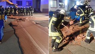 Όνειρο: Ένας τόνος σοκολάτας πλημμύρισε δρόμο σε πόλη της Γερμανίας και έγινε χαμός