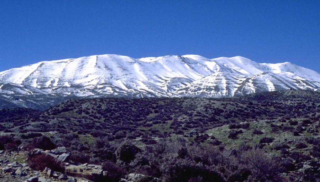 Χειμωνιάτικο το τοπίο του καιρού στην Κρήτη