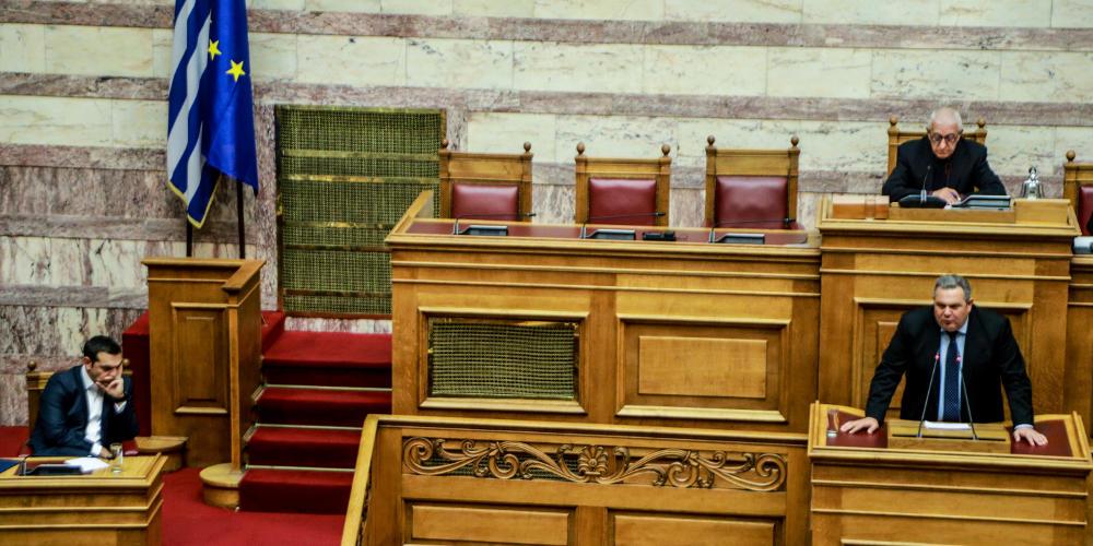 Ο Καμμένος πρόδωσε τα ψέμματα του Τσίπρα με επίθεση στην ΝΔ για να στηρίξει το «όχι» του