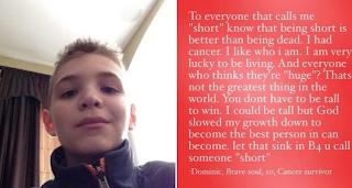 Tο να είσαι κοντός είναι καλύτερα απ'το να είσαι νεκρός…! Τα συγκλονιστικά λόγια παιδιού που δεχόταν σχολικό εκφοβισμό
