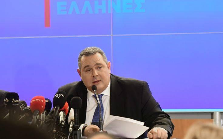 Καμμένος: Τα Σκόπια είναι 20 λεπτά δουλειά για μια ίλη τεθωρακισμένων