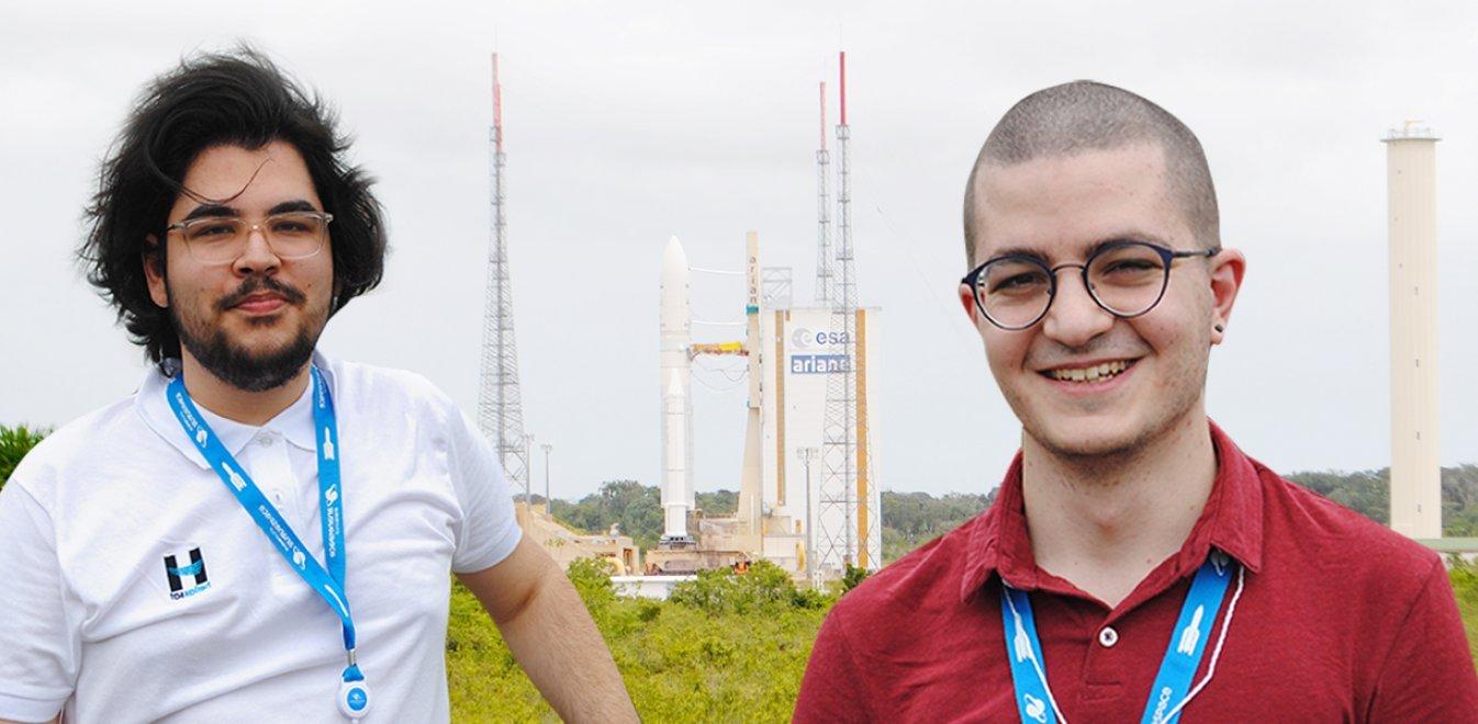 Από τη Μυτιλήνη στη Γαλλική Γουϊάνα: Δύο Έλληνες φοιτητές στην εκτόξευση του Hellas Sat 4