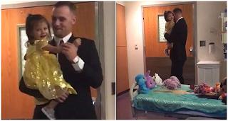 Μπαμπάς χορεύει με την 2 ετών κόρη του που πάσχει από λευχαιμία όπως ακριβώς αρμόζει σε μια πριγκίπισσα