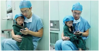 Καρδιοχειρουργός ηρεμεί κοριτσάκι δύο ετών, πριν του κάνει χειρουργική επέμβαση
