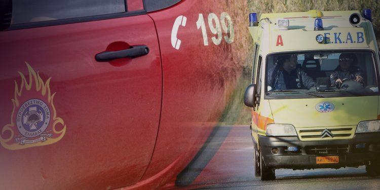 Τροχαίο ατύχημα με εγκλωβισμό στα Χανιά