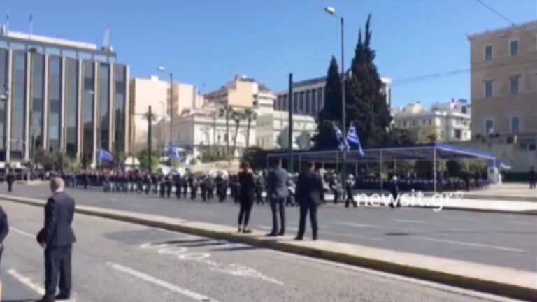 Παρέλαση 25 Μαρτίου: Με το «Μακεδονία Ξακουστή» έφτασε η μπάντα του Πολεμικού Ναυτικού