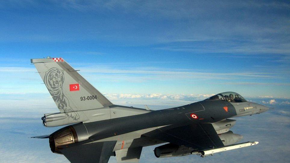 Πτήσεις τουρκικών F-16 πάνω από ελληνικά νησιά
