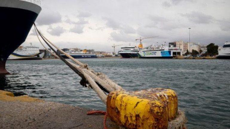 Δεμένα τα πλοία στα λιμάνια της Κρήτης
