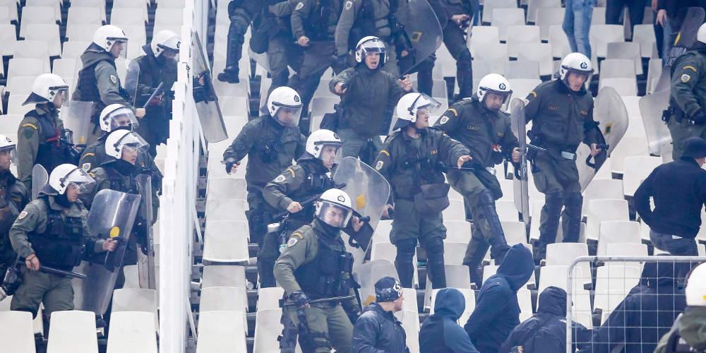 Οκτώ συλλήψεις στο ΟΑΚΑ στο ντέρμπι των «αιωνίων» – Σε ισχύ ο νέος νόμος του Βασιλειάδη