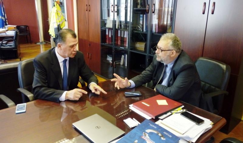 Θεσσαλονίκη: Με τον πρόεδρο του ΟΛΘ ΑΕ συναντήθηκε ο Ορφανός