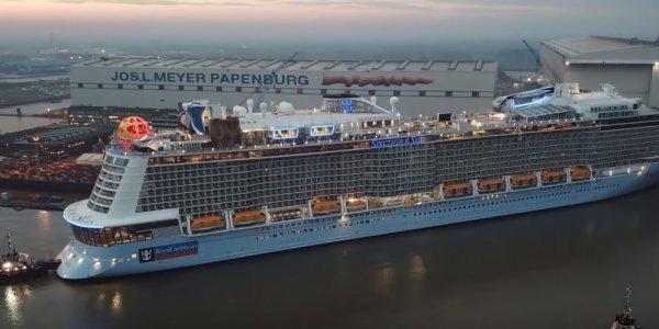 Spectrum of the Seas: Στον Πειραιά το μεγαλύτερο κρουαζιερόπλοιο στον κόσμο (vid)