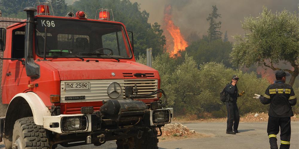 Φωτιά κοντά σε ξενοδοχείο στην Αγία Τριάδα Θεσσαλονίκης