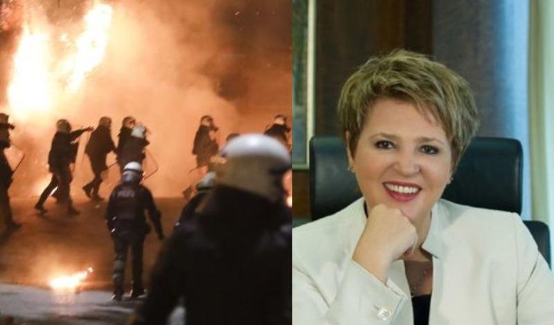 Γεροβασίλη: «Πετυχημένη» η αστυνόμευση από τους περιθωριακούς που καίνε την Αθήνα-«Λαϊκιστής ο Μητσοτάκης»