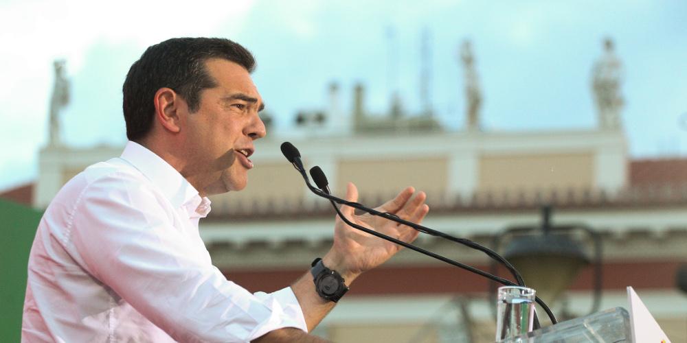 Δείτε live την ομιλία του Αλέξη Τσίπρα από το Ηράκλειο της Κρήτης