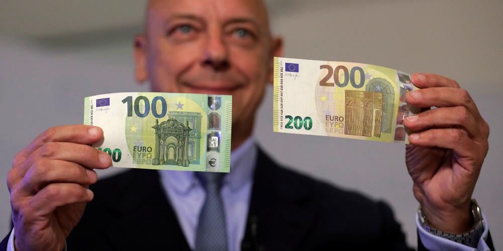Πότε κυκλοφορούν τα νέα χαρτονομίσματα των 100 και 200 ευρώ