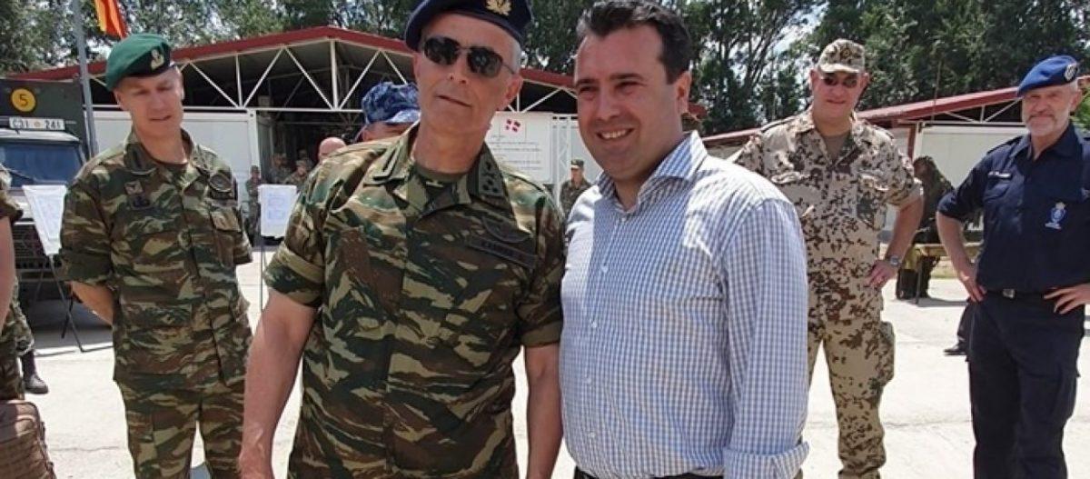 Προέλαση του «Ρόμελ των δημοσίων σχέσεων» Α/ΓΕΣ Γ.Καμπά στα Σκόπια: Φωτογραφίζεται υπερήφανος με τον Ζ.Ζάεφ!