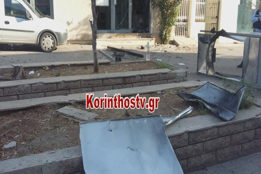 Ανατίναξαν ATM στο Ζευγολατιό – Έκαψαν το αυτοκίνητο διαφυγής οι δράστες (video)