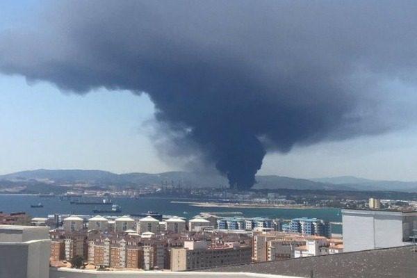 Πυρκαγιά σε εργοστάσιο χημικών κοντά στο Γιβραλτάρ